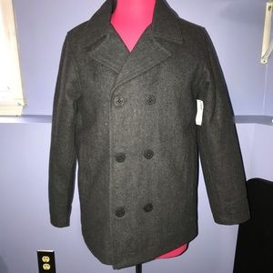 NWT Old Navy Youth Wool Pea Coat 🧥 XL 14-16